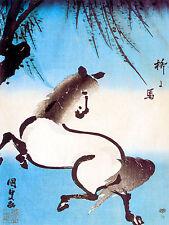 Oriental Art Mural Ceramic Backsplash Decor Horse Tile #453