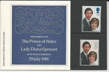 Great Britain # 950-951 British Post Office Mint Stamps-Charles/Diana Wedding
