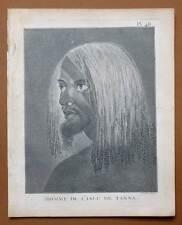 HOMME DE L'ILE DE TANNA ARCHIPEL DU VANUATA Gravure Voyage de COOK James 1778