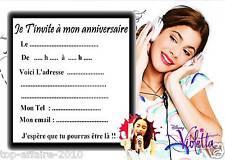 5 cartes invitation anniversaire  Violetta 01  d'autres en vente !!