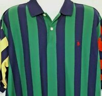 Knights Of The Round Table Vintage 90's Men's Striped Polo Shirt Size 2XLT