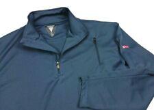 SCOTTeVEST TEC Mens Gray Mesh 1/4 Zip Pullover Running Shirt Top Large Mens