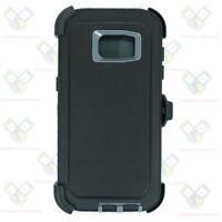 Black Gray Samsung Galaxy S7 Edge Case w/ Screen & Clip fits Otterbox Defender