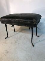 Antique Primitive Pine Wooden Buggy Step Stool Horse Hair Harness Hook Legs Rare