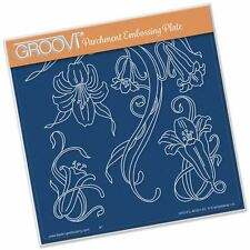Jayne's Trumpet Lillies Groovi Plate A5 Square
