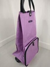 Reisenthel Foldable Trolley Bag Portable Shopping Food Grocery Cart Wheel Purple