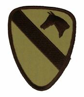 US ARMY 1ST CAVALRY DIVISION PATCH VETERAN FORT HOOD HORSE FIRST TEAM DESERT TAN