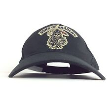 Sons Of Anarchy Reaper Logo Black Baseball Cap Hat Adj Adult Large Size Cotton
