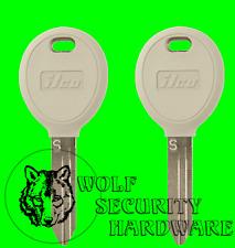 Lot of 2 Chrysler Dodge Jeep Sentry RFID Electronic Transponder Chip Key Blank