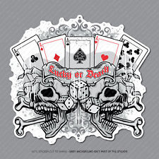 Gambler Calavera Pegatina Calcomanía Laptop PC iPad Patineta teléfono Poker-SKU2912