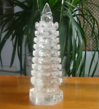 1532g  Natural Clear Quartz Crystal Tower Carved Healing  3.37LB