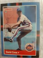1988 David Cone Donruss Baseball Card #653! Rookie Autographed Card! Authentic!