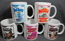 Count Chocula-Boo Berry-Franken Berry & Co. Cereal Coffee Cups, Mugs SET OF FIVE