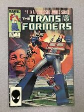 TRANSFORMERS # 1 comic book by Marvel Comics (1984) - 1st Appearance Autobots