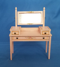 Vintage Collectable Tynietoy Dollhouse (1:12) Pink French Vanity, Dressing Table