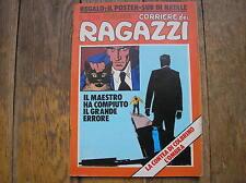 CORRIERE DEI RAGAZZI 51 1975 CON POSTER NATALE SUB