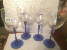 Tobacciana Set 4 Tall Blue Stemmed parliament lights Wine glasses wine Premiums