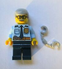 LEGO City,  Minifigure,  Police Officer with grey hair ,new
