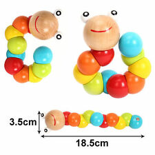 DIY Baby Kid Infant Creative Twist Caterpillar Wooden Toy Educational Gift Pro