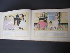 1st Ed 1917 Happy All Day Through By Bowman Janet Laura Scott Illustrator Book