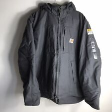 Carhartt Full Swing Mens Jacket Blue Grey Thinsulate Hooded Lined Size XL NWT