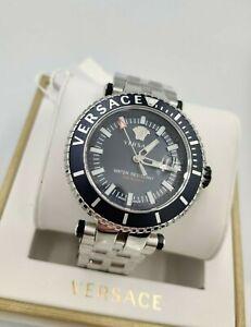 Versace V-Race Swiss Black Luxury Men's Watch VEAK00418 Diver 1Yr Warranty