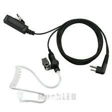 2 Pin Headset Mic Covert Acoustic Tube Earpiece For Motorola Radio Security US