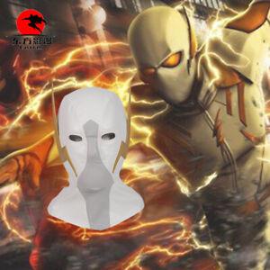 DFYM The Flash Season 5 God Speed Cosplay Headwear Headgear White Mask Helmet