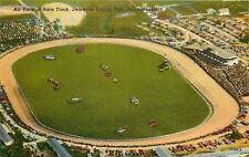 Delaware Ohio~Air View Of Race Track~Delaware County Fair~1950s Postcard