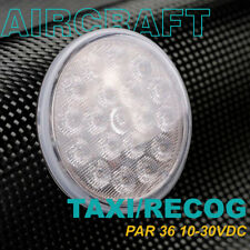 "Led Taxi / Recognition Bulb for Aircraft | Par36 Size ""Flood"" Beam 10-30Vdc"