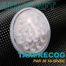 """LED Landing Taxi Anti-collision Light for Aircraft """"FLOOD"""" Lens PAR-36 10-30VDC"""