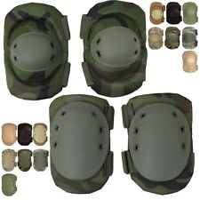 Tactical Elbow & Knee Pads Set, Camo Multi-Purpose Paintball Airsoft Skate Work
