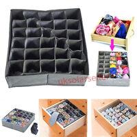 30 Cell Bamboo Charcoal Socks Underwear Ties Organizer Drawer Closet Storage B&%