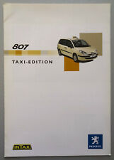 V14088 PEUGEOT 807 TAXI - CATALOGUE - 04/03 - A4 - D