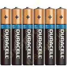6 x Pilas Duracell Ultra AAA LR03 1.5 V MX2400 alcalino
