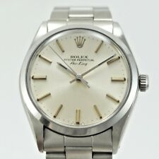 ROLEX AIR KING 5500 CASE 34 MM WITH PAPER. YEAR 1982