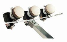 New listing triple Multi Feed Rail for 3 Lnb 1 9/16in Galvanized steel e.g. Triax+Gibertini