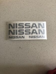 4X NISSAN Brake Caliper Decal Sticker Car Emblem Logos BLACK ONLY
