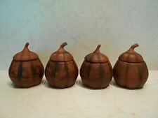 "Clay pot / crock ""Pumpkin"" 4 pcs. set"
