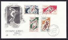 """Togo 1960 """"Artcraft"""" Olympics Games First Day Cover"""