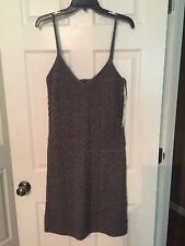 Exclusive Hand Knit For RALPH LAUREN Wool Dress Size L Gray NWT $139