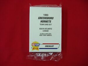1993 GREENSBORO HORNETS FLEER PROCARDS MiLB TEAM SET DEREK JETER NY YANKEES