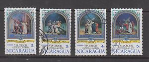 Nicaragua Stamps 1975 Stations of the Cross 4 different