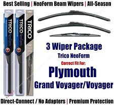 3pk Wipers NeoForm - fit 1984-1990 Plymouth Grand Voyager/Voyager 16180x2/30160