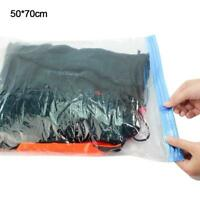 5X Vacuum Compressed Storage Bags Saver Space Saving Travel Bag Organizer 4 Size