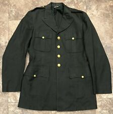 Korean war Era 100% Wool Men's Dress ARMY JACKET Dress Green uniform 40L long