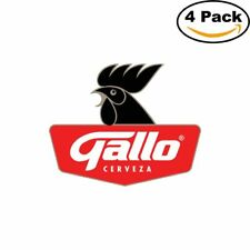Gallo Cerveza Beer Logo Alcohol 4 Vinyl Stickers 4X4 Inches