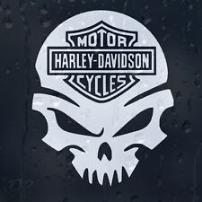 Motor Harley Davidson Cycles Skull Sign Motor Cycles Car Decal Vinyl Sticker