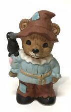 Vintage, Homco Scarecrow Bear Figurine #1426, Euc