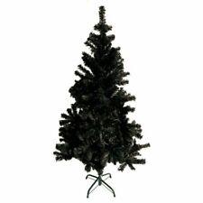 Árbol de Navidad Artificial 120 cm, Plástico - Negro (4039214522004)